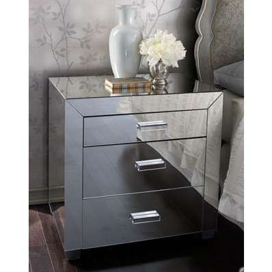 Mirrored Nightstand for Ease and fort When You Wake Up