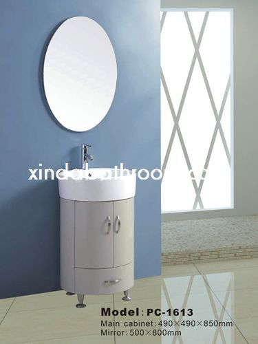Xinda Bathroom Cabinet Co Ltd Provide The Reliable Quality Round Mirrored And Basins Vanity Units With