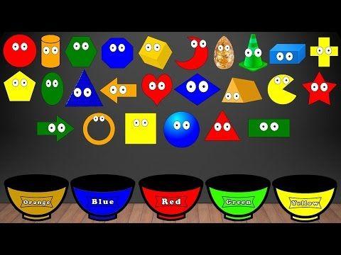 Learn Shapes Song Color Sorting For Kids Educational Video Kindergarten Preschool Game Kids Learning Videos Shape Songs Preschool Games
