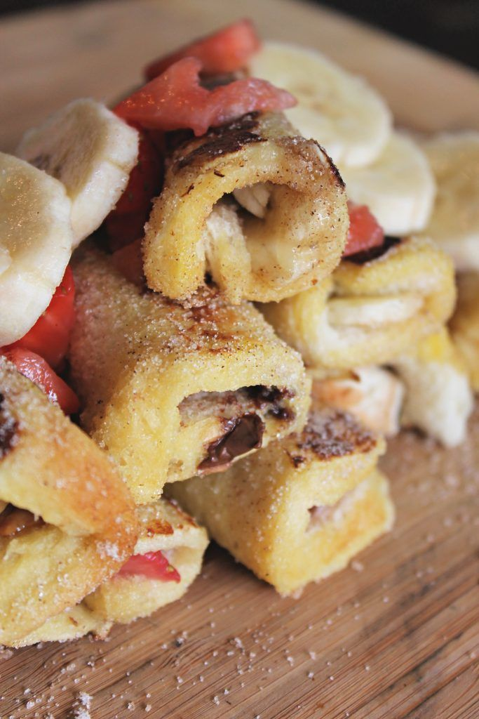 Nutella French Toast Roll Ups! (With images)   Nutella ...