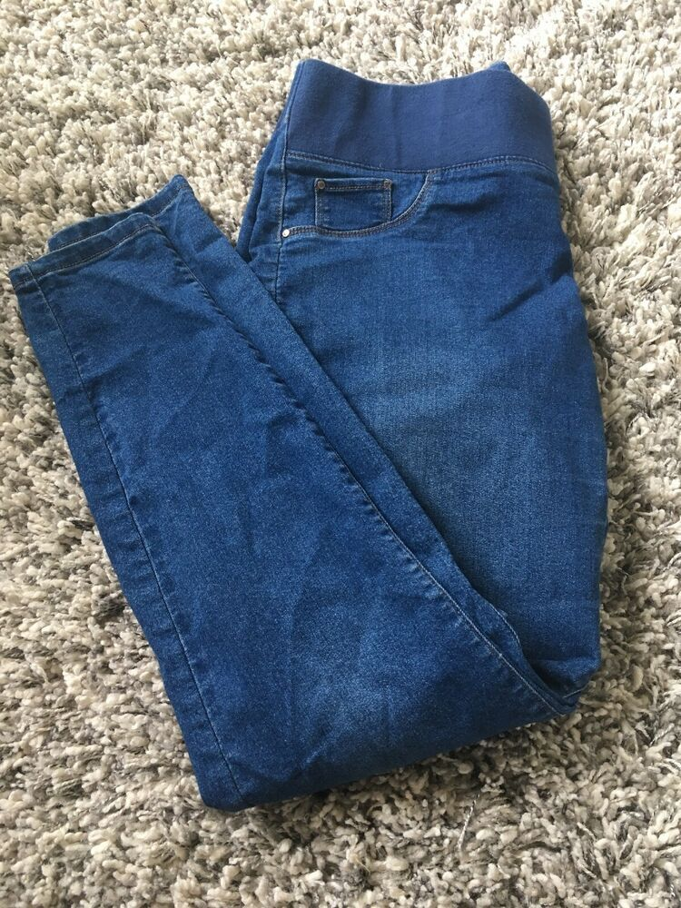 826501b381c58 Papaya Maternity Under Bump Blue Skinny Jeans Size 12 #fashion #clothing  #shoes #