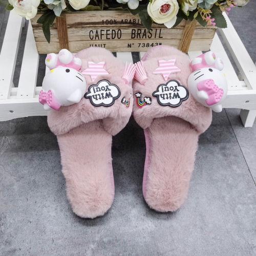 Lovely Hello Kitty Indoor Slippers Women Slippers Winter