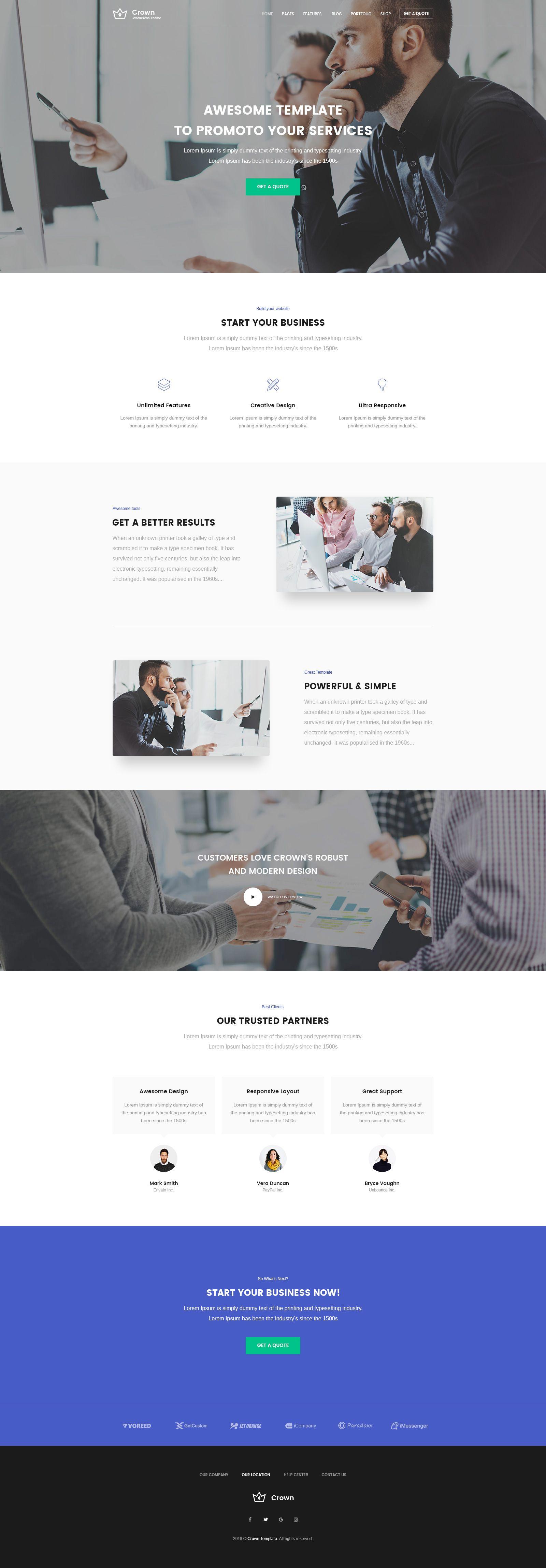 Crown - Multi-Purpose PSD Website Template