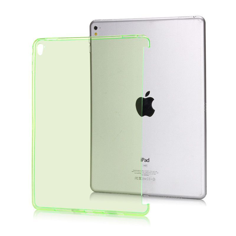 TPU Soft Matte & Crystal Transparent Trimming partner shell Silicone Back Protective Case For iPad Pro 9.7 inch New Style