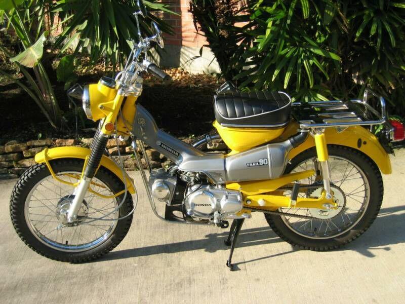 mint gem of a honda hunter cub / trail bike. ct 90 canary yellow