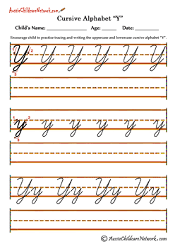 trace letters of the alphabet Yy | écriture | Pinterest | Cursive ...