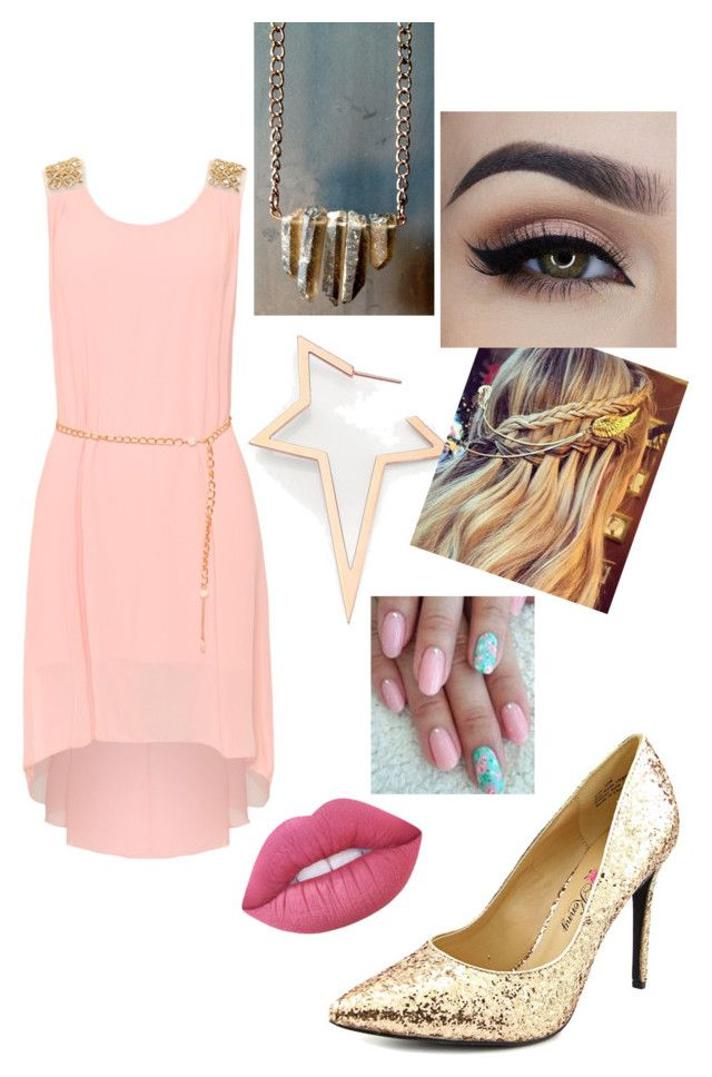 """""""Pinkish"""" by wilsonsiryn on Polyvore featuring WearAll, Diane Kordas, Penny Loves Kenny and Lime Crime"""