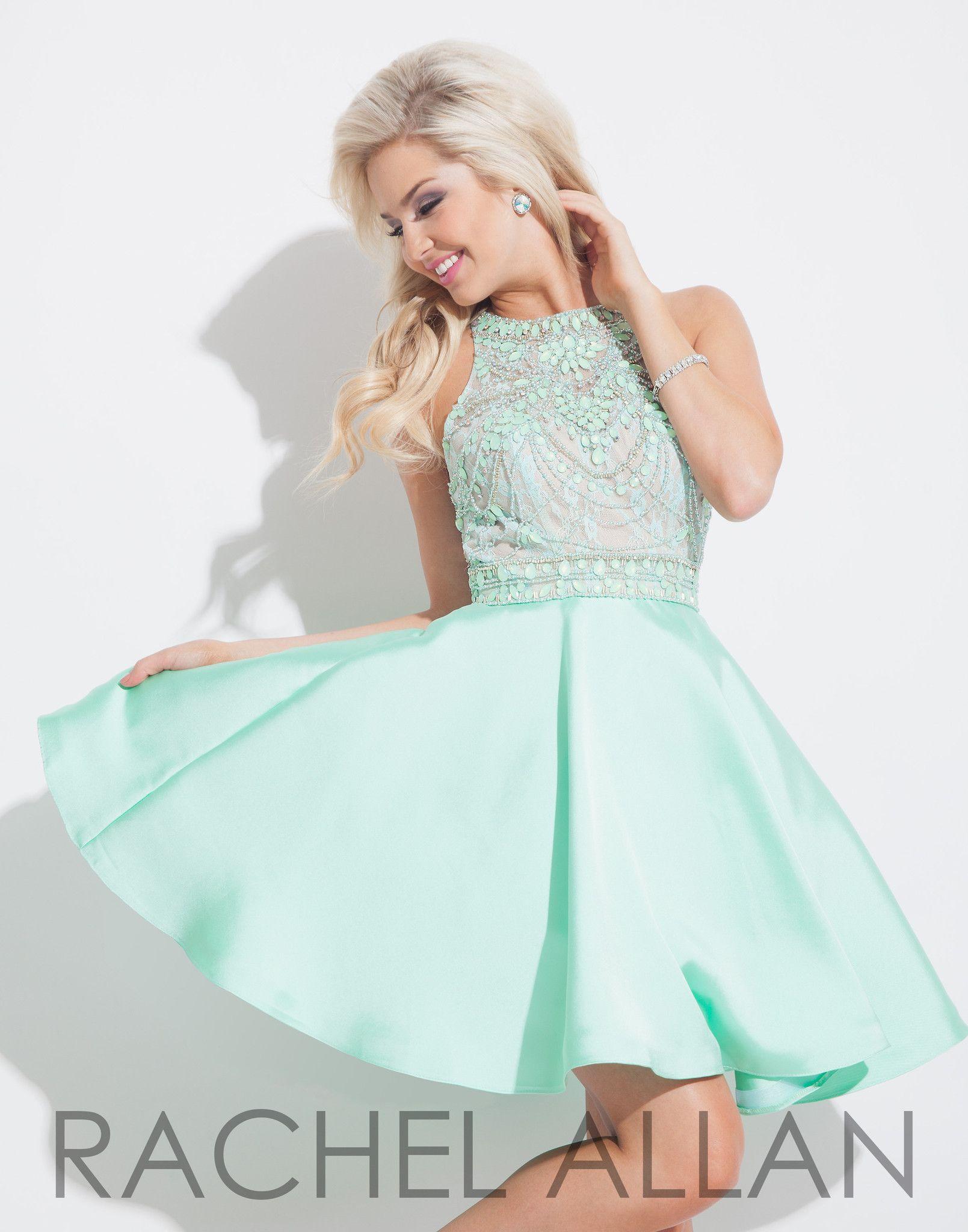Rachel allan mint homecoming dress dresses pinterest mint