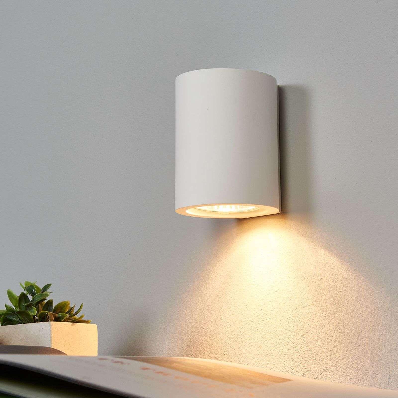 Applique blanche GU10 Miroslaw en plâtre de Lampenwelt.com #gesso