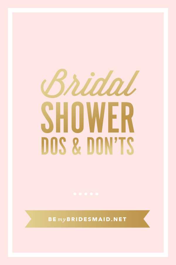 etiquette for bridal showers wedding planning tips