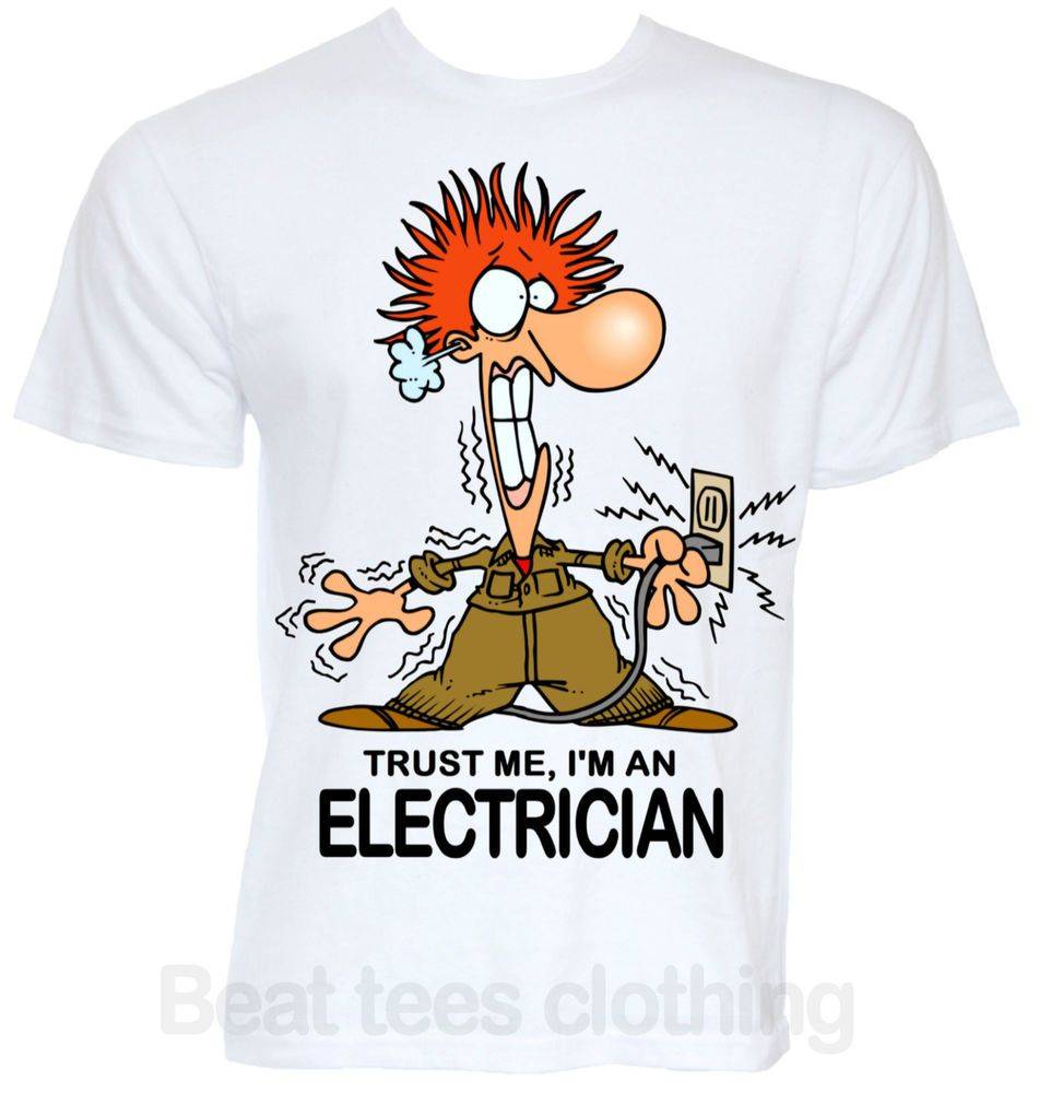 MENS FUNNY ELECTRICIAN SPARKY JOB TSHIRT NOVELTY COOL