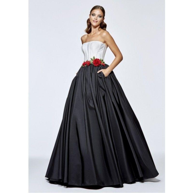Abendkleid Ortensia in Schwarz Weiß | Evening gowns formal ...