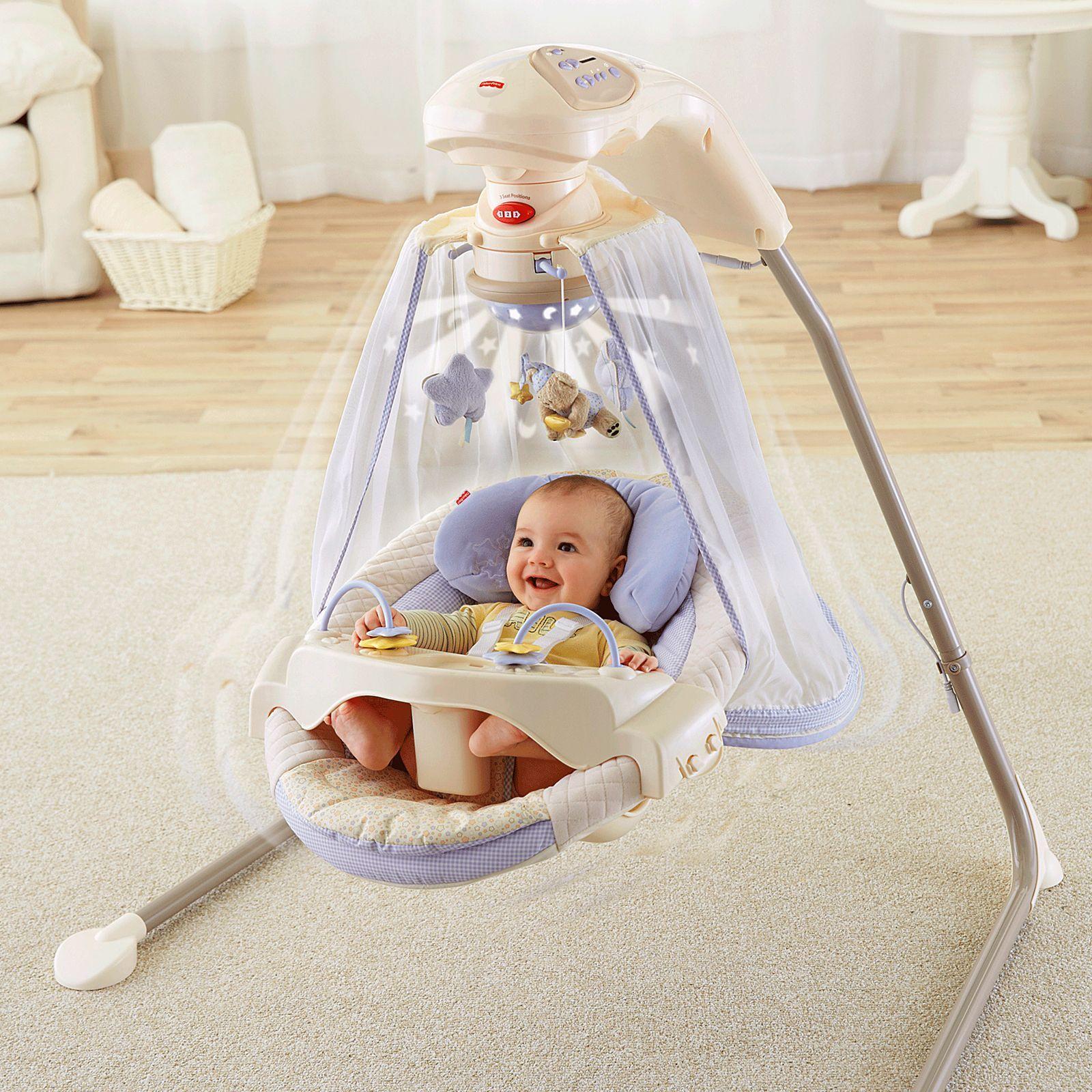 Fisher-Price Starlight Papasan Cradle Swing | K7924 | Fisher-Price