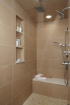 Modern Shower Shelves Design Ideas Pictures Remodel And Decor Page 22 Bathroom Design Small Bathroom Tile Designs Bathroom Design