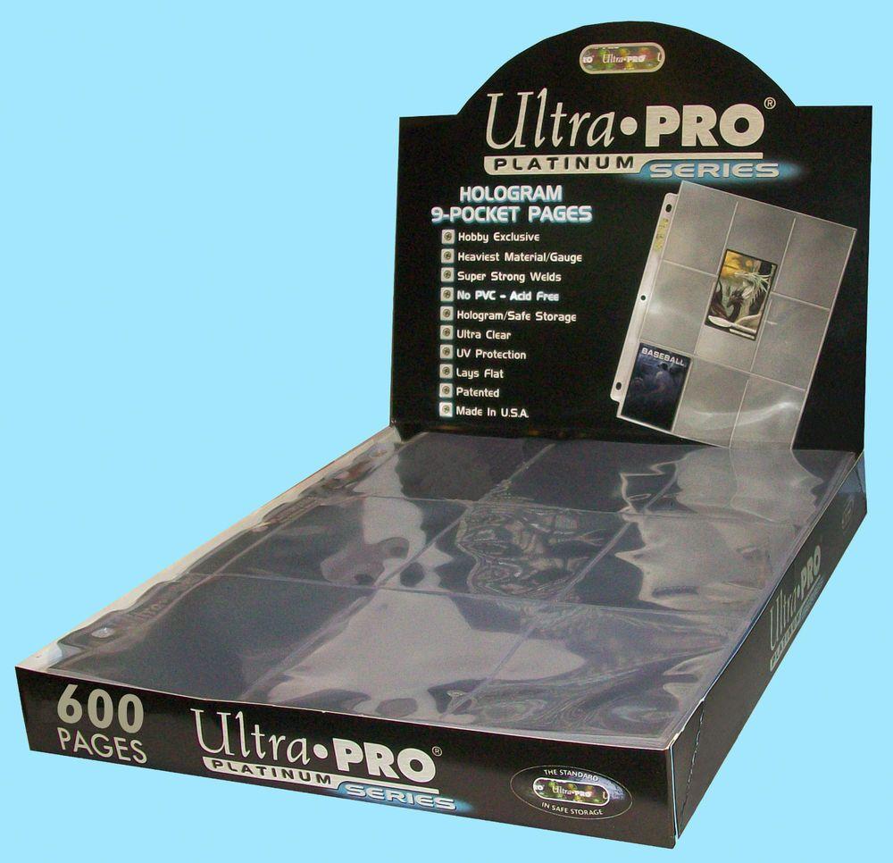 600 ULTRA PRO PLATINUM 9-POCKET Card Pages Sheets