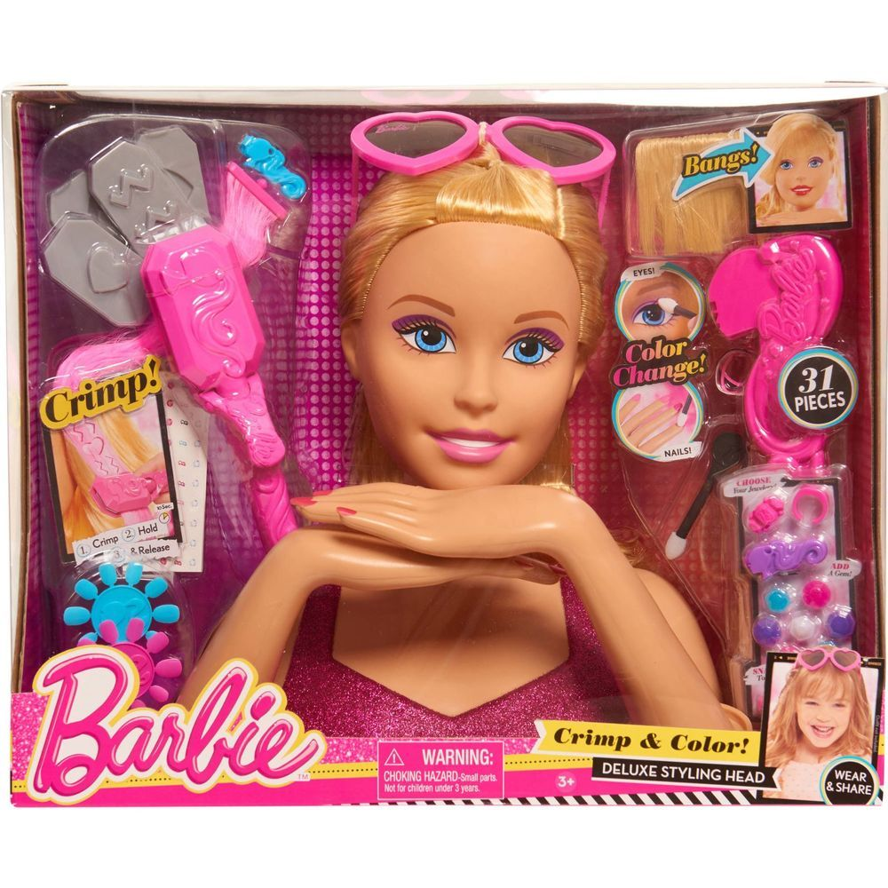 Barbie Color And Crimp Styling Head Barbie Doll Deluxe