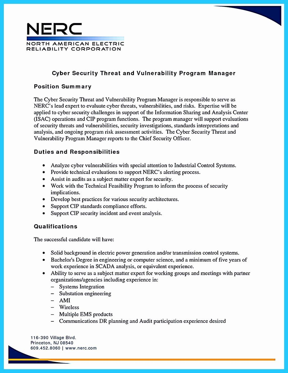 Cyber Security Resume Example Unique Powerful Cyber
