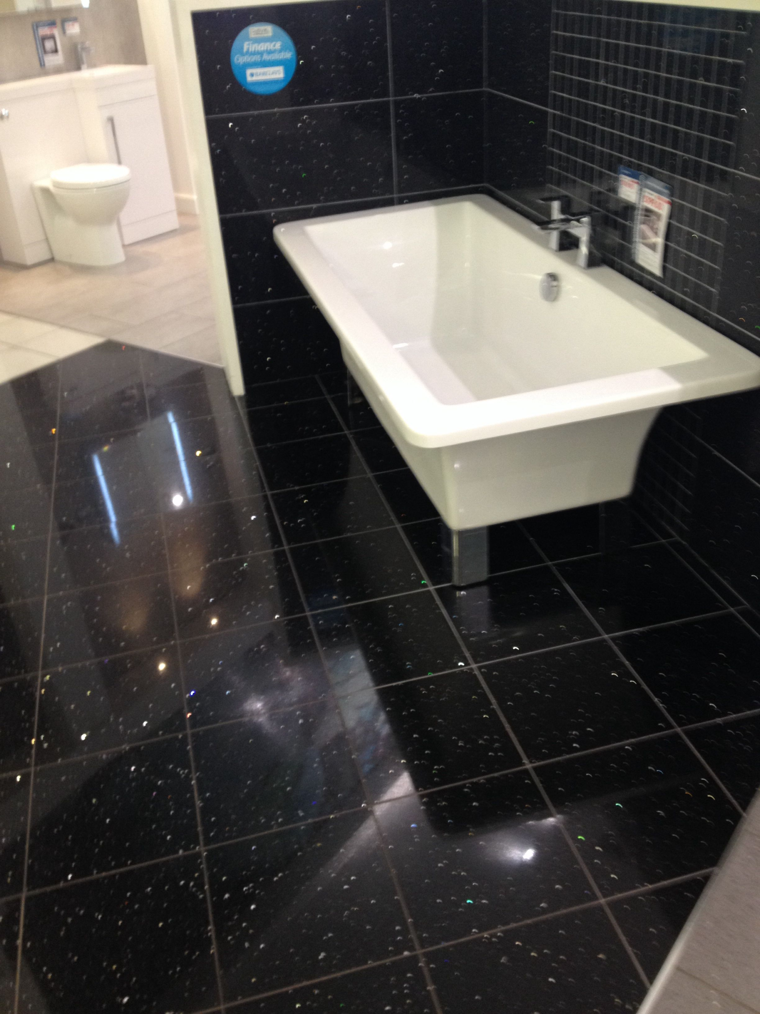 Black Sparkly Tiles Sparkly Tiles Glitter Bathroom Bathroom Flooring