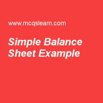 Simple Balance Sheet Example Financial Management Pinterest - simple balance sheet