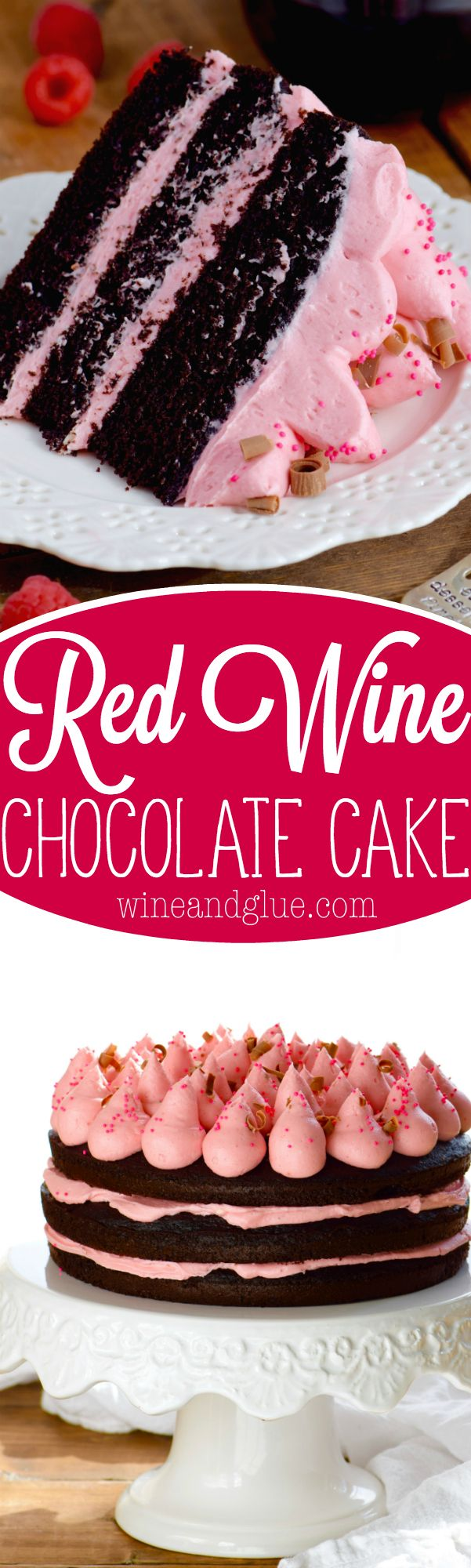 This Red Wine Chocolate Is Deep Delicious Rich And Perfect To Entertain With Desserts Cake Recipes Red Wine Chocolate Cake