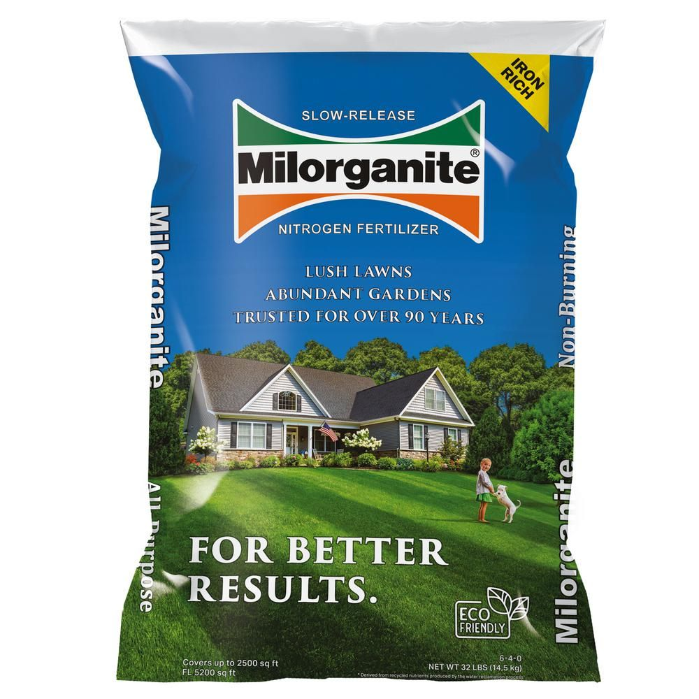Milorganite 32 lbs  Slow-Release Nitrogen Fertilizer | Fairy