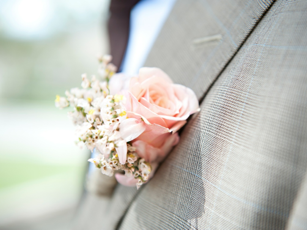 blush - wedding boutonniere utah wedding florist calie rose