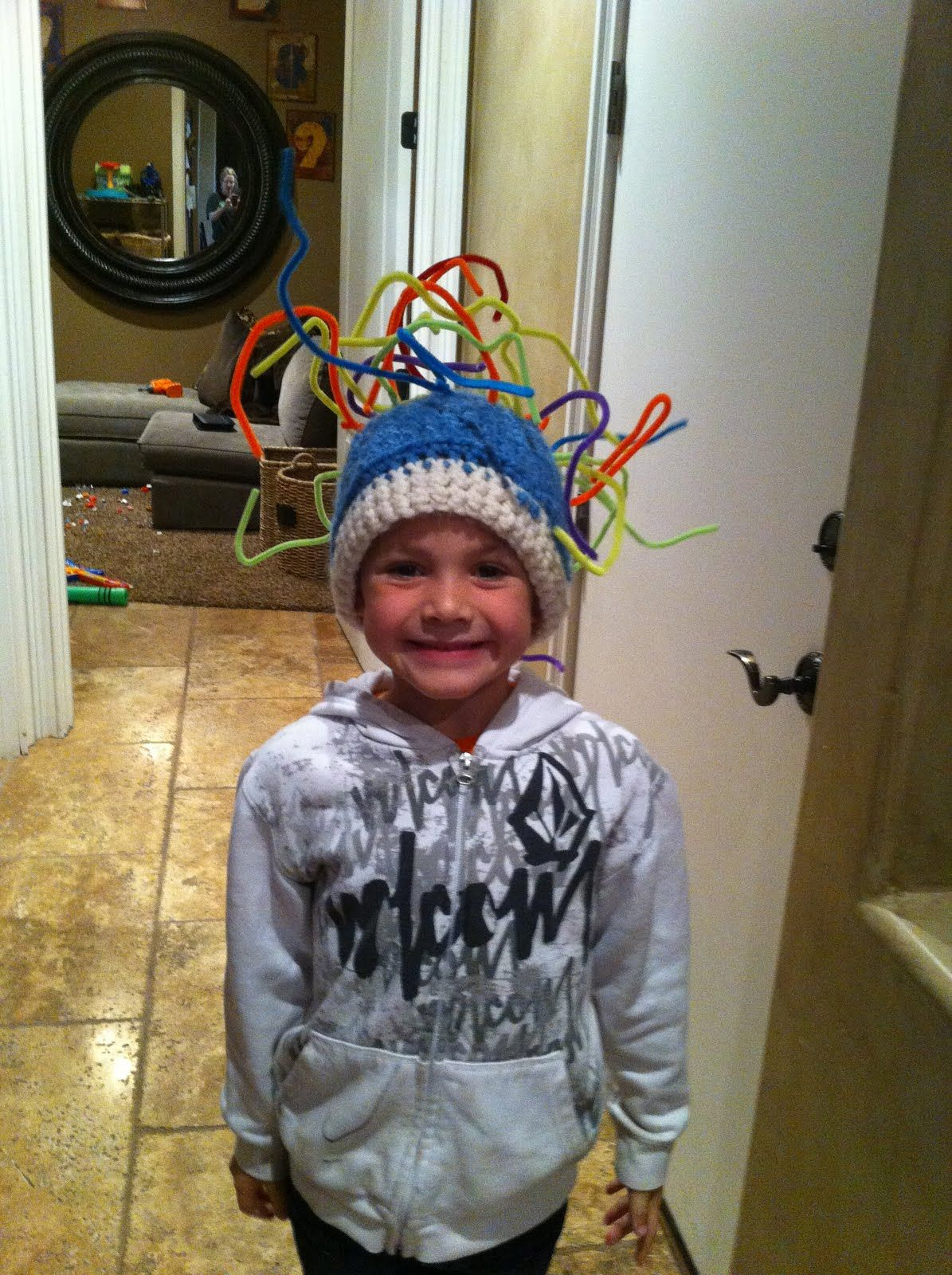 Crazy Hat Day For Kids Crew And I Had Fun Making His Hat For