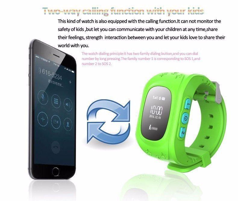Gps Kid Safe Smart Locator Tracker Baby Wristwatch Gps