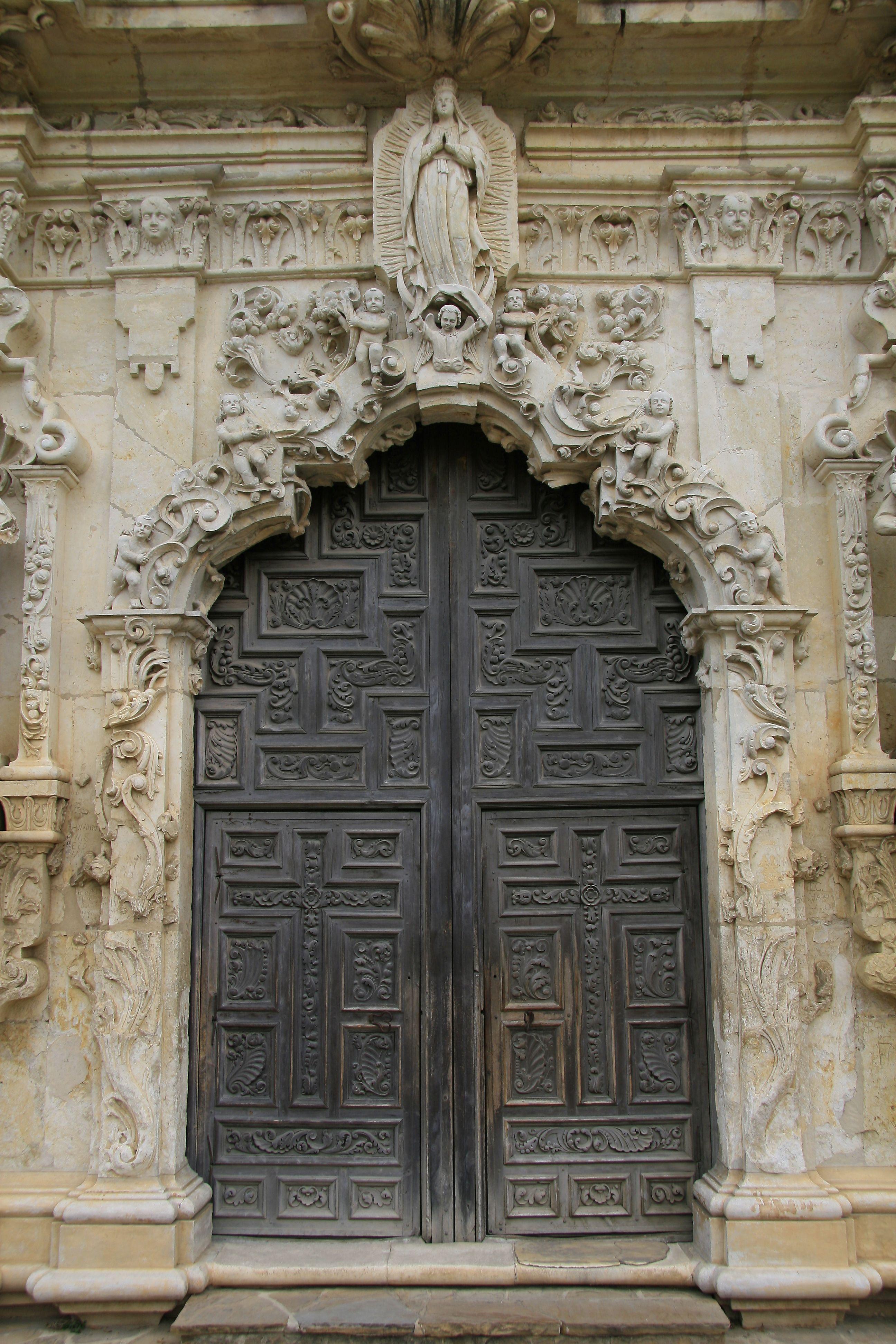 Mission San José Y Miguel De Aguayo Antonio Missions National Historical Park Texas Elaborately Carved Portal At The Front Facade