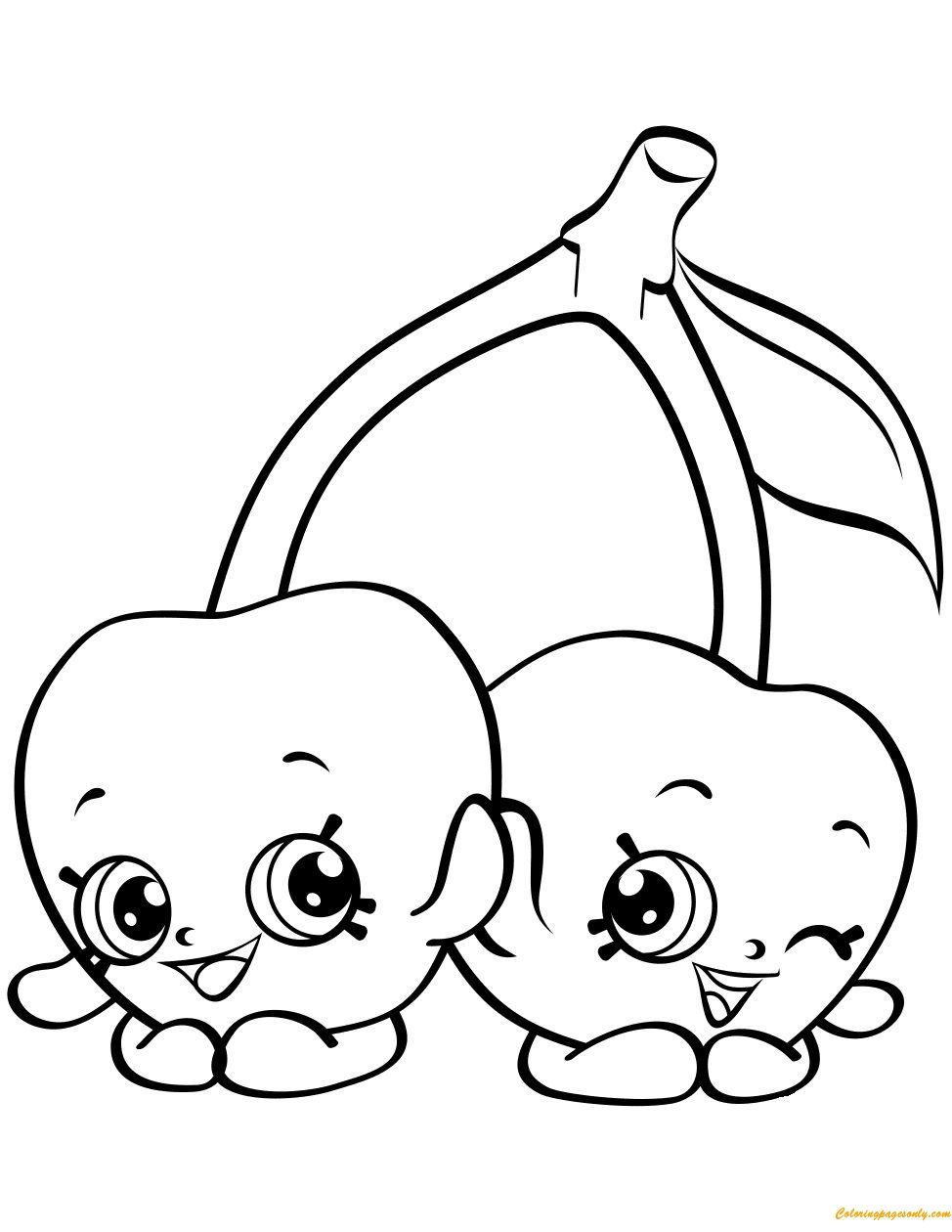 Shopkins Free Coloring Pages 4 G Cheeky Cherries Shopkin Season 4 Coloring Page Free Colo Shopkin Coloring Pages Cartoon Coloring Pages Shopkins Colouring Book