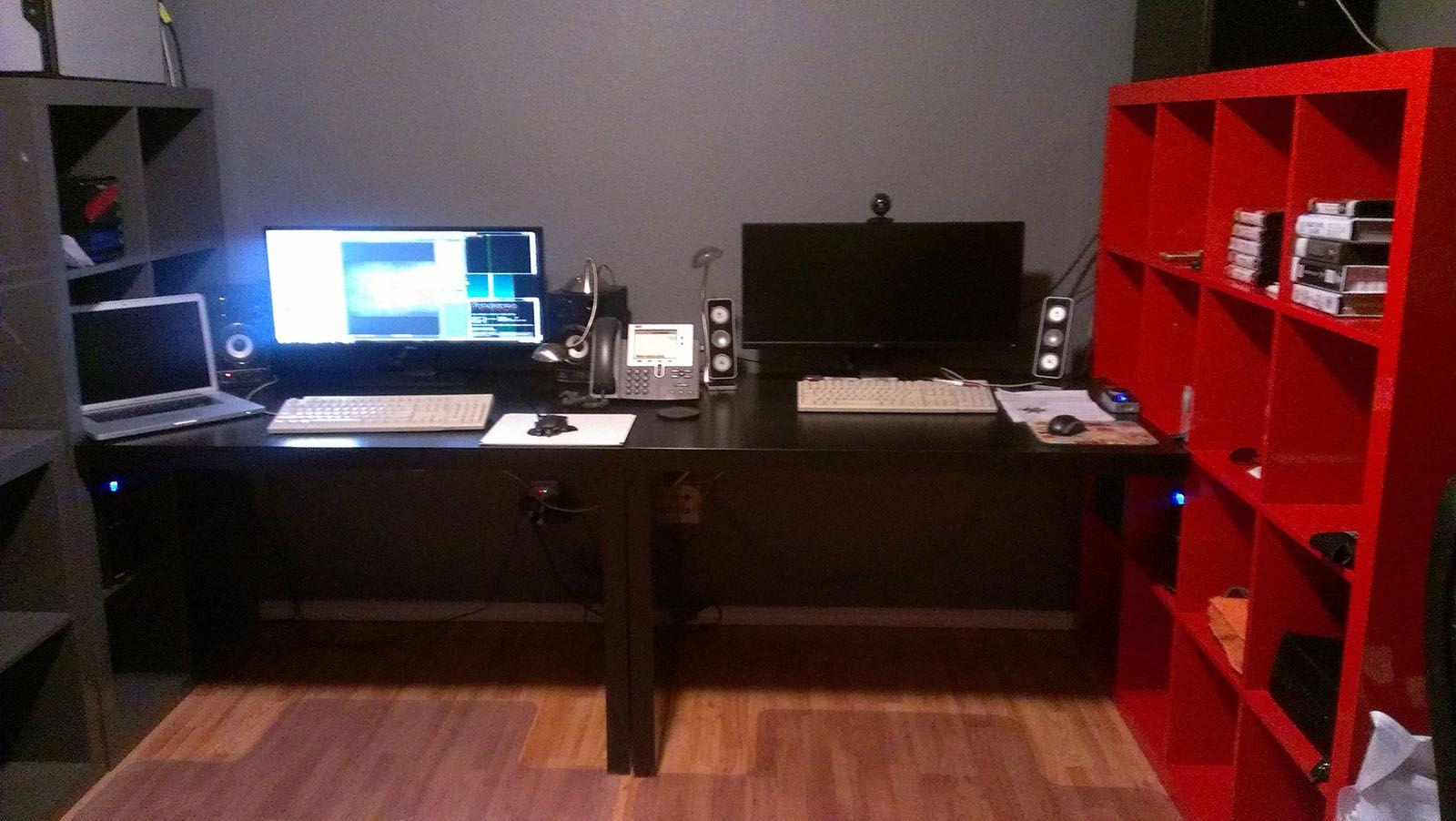 His Hers Battlestations Battlestation Game Room Room Design