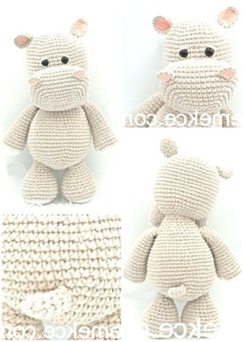 Amigurumi Crochet Sevimli Hipopotam Free Pattern Yapılışı #stuffedtoyspatterns