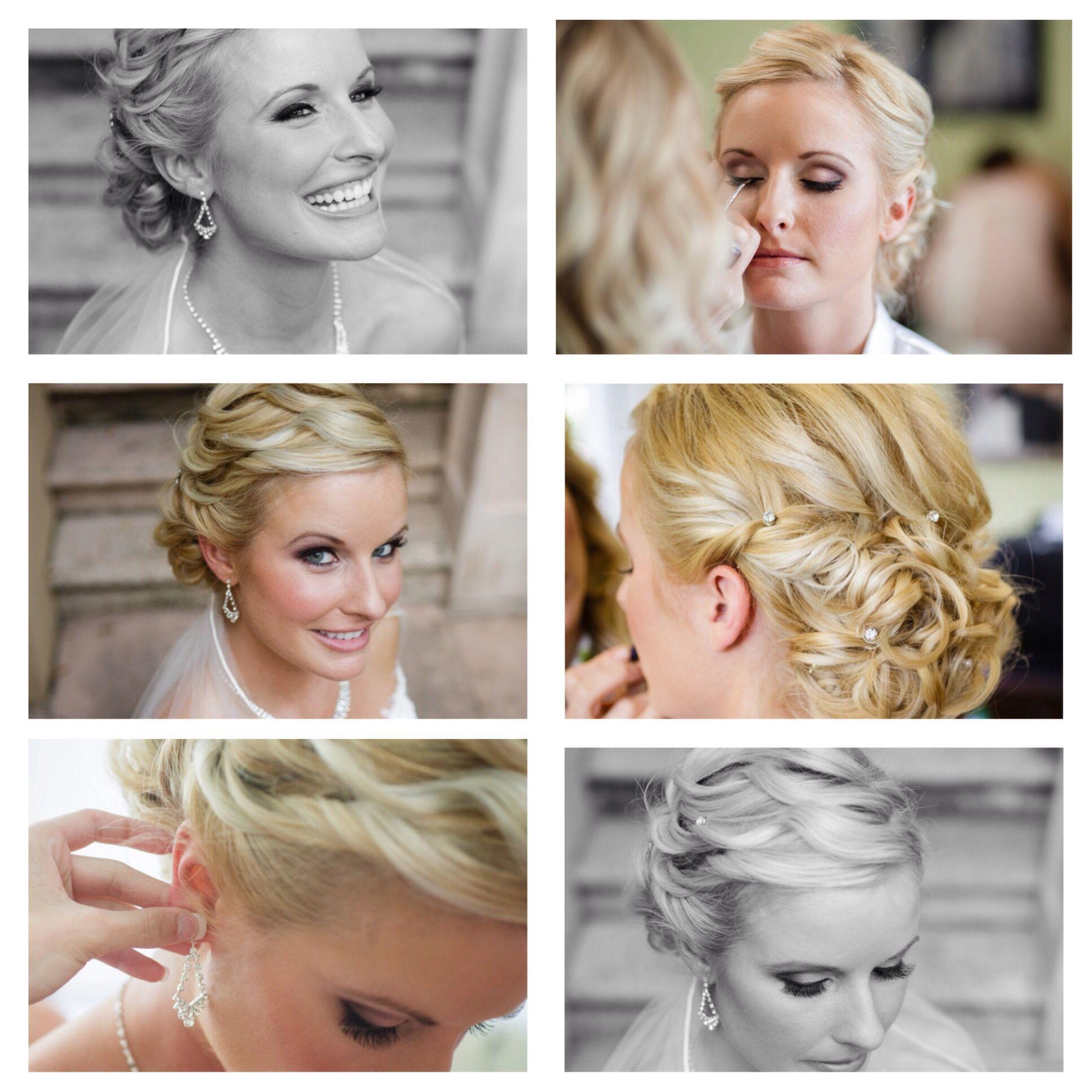 Wedding hair and makeup! Thank you to my fabulous artists!! Hair Melissa Edwards- Aura Salon, Makeup - Lucia Palenik -Fam Well Clinic North FL OBGYN :)