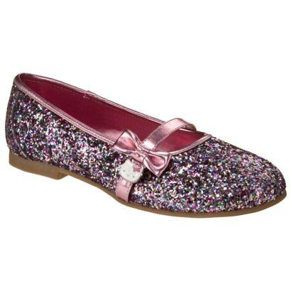 Flower Girl Shoes - Hello Kitty Glitter Ballet Flat