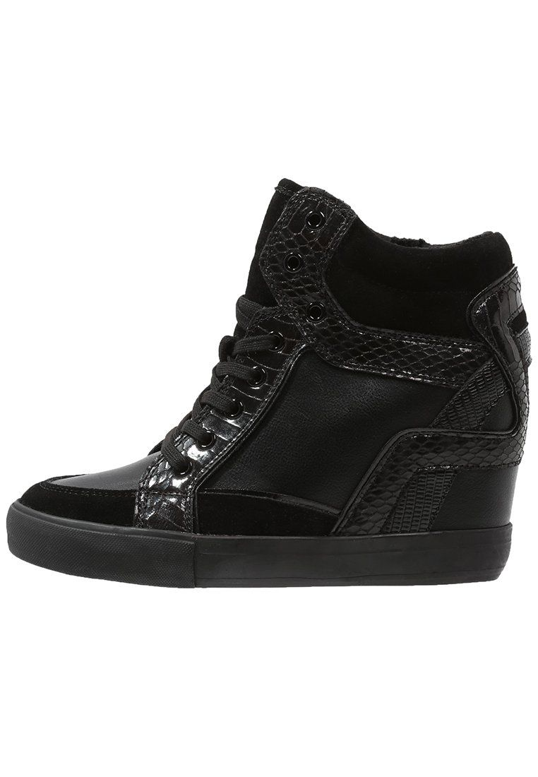 Aldo Bertilla Tenisowki I Trampki Wysokie Black Zalando Pl Shoes Sneakers All Black Sneakers