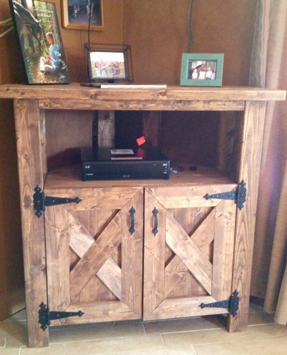 sports shoes c80ff f93ee Rustic Corner TV Console Entertainment center by ...