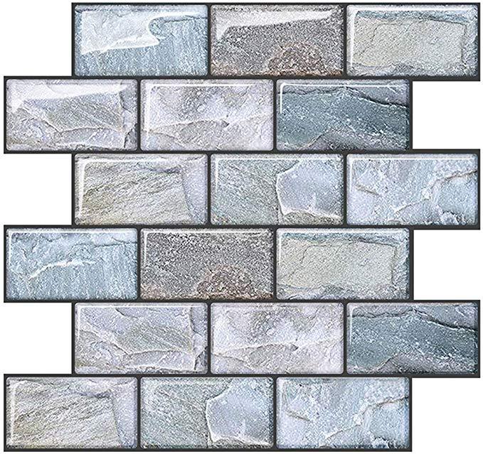 Amazon Com Joqixon Peel And Stick Wall Tile For Kitchen Backsplash Subway Tile Backsplash 3d Brick Tile Peel In 2020 Kitchen Wall Tiles Wall Tiles Bathroom Wall Tile