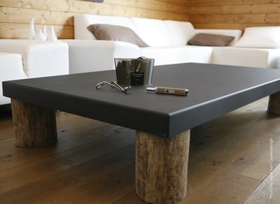 Table basse baptized by nature m tal et bois flott - Table basse bois flotte ...