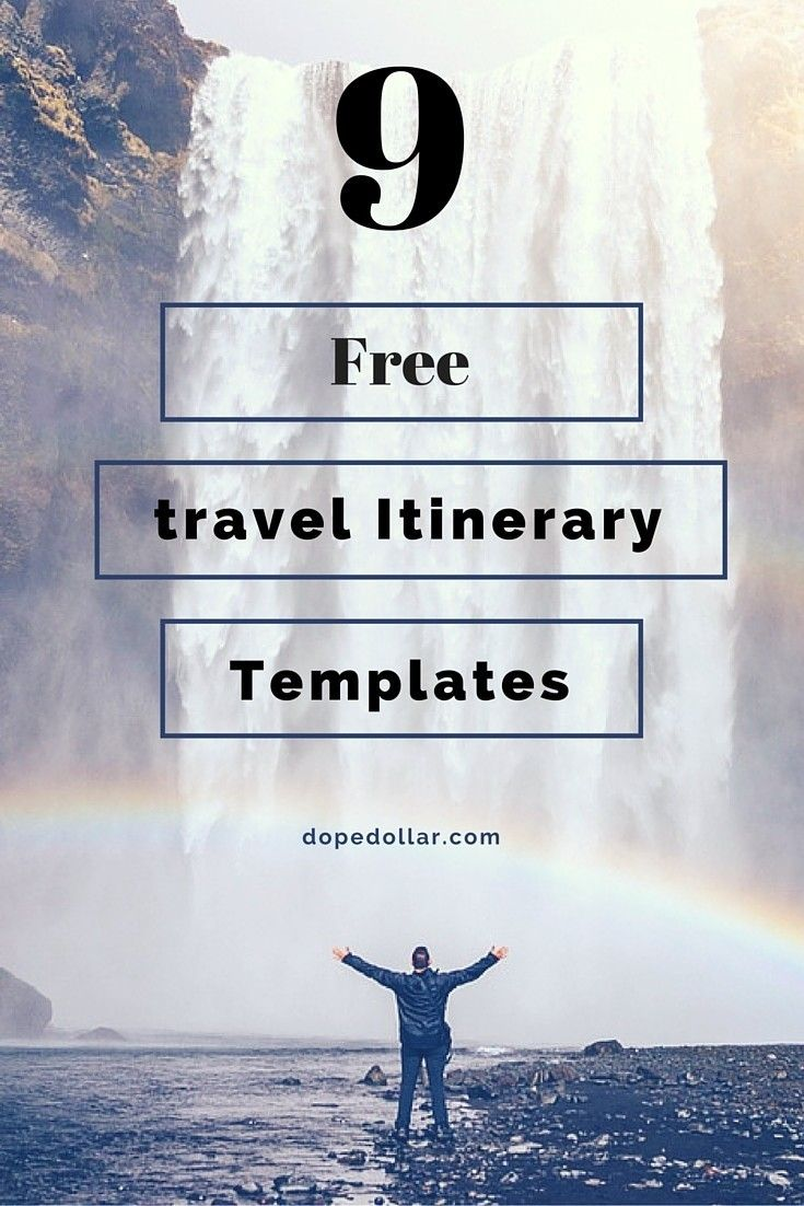 free travel itinerary templates for travel flight vacations