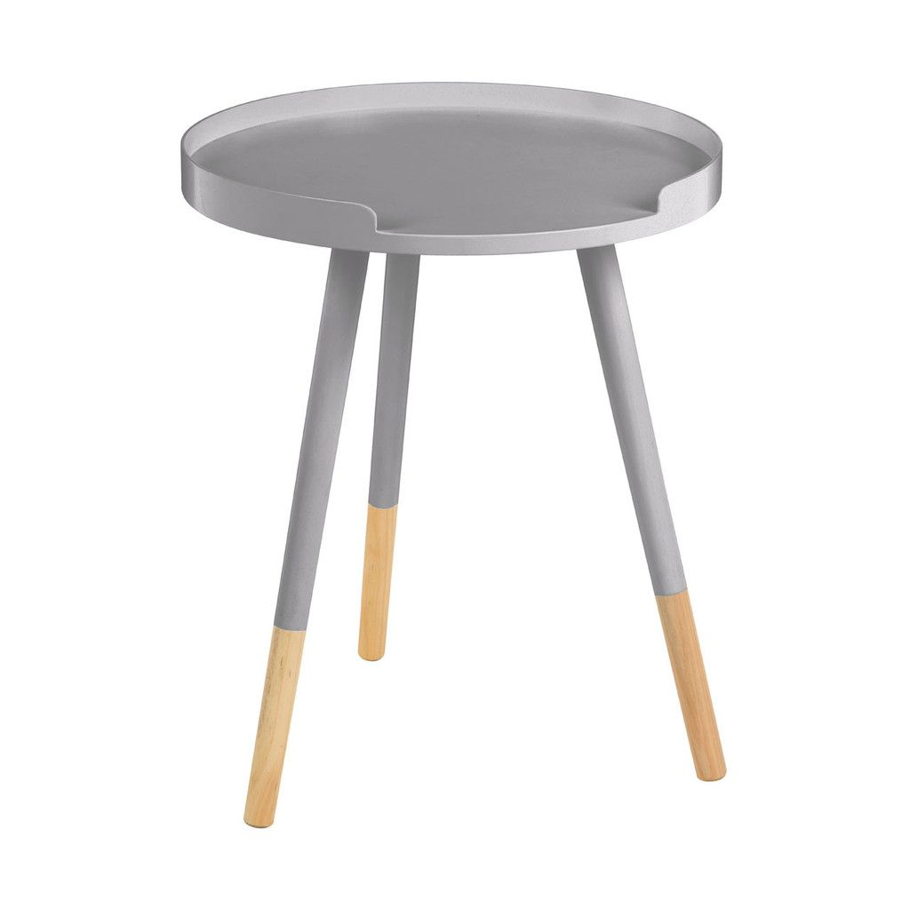 Viborg Round Side Table Mdf Grey