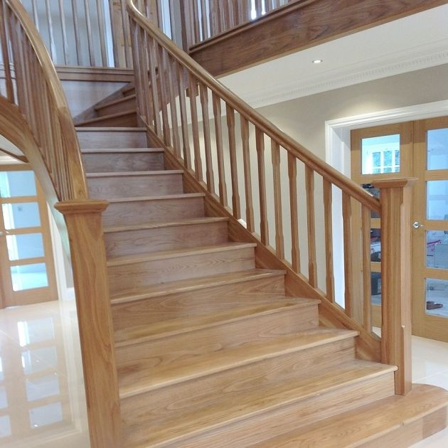 26 Incredible Under The Stairs Utilization Ideas: Wood Handrail Profiles