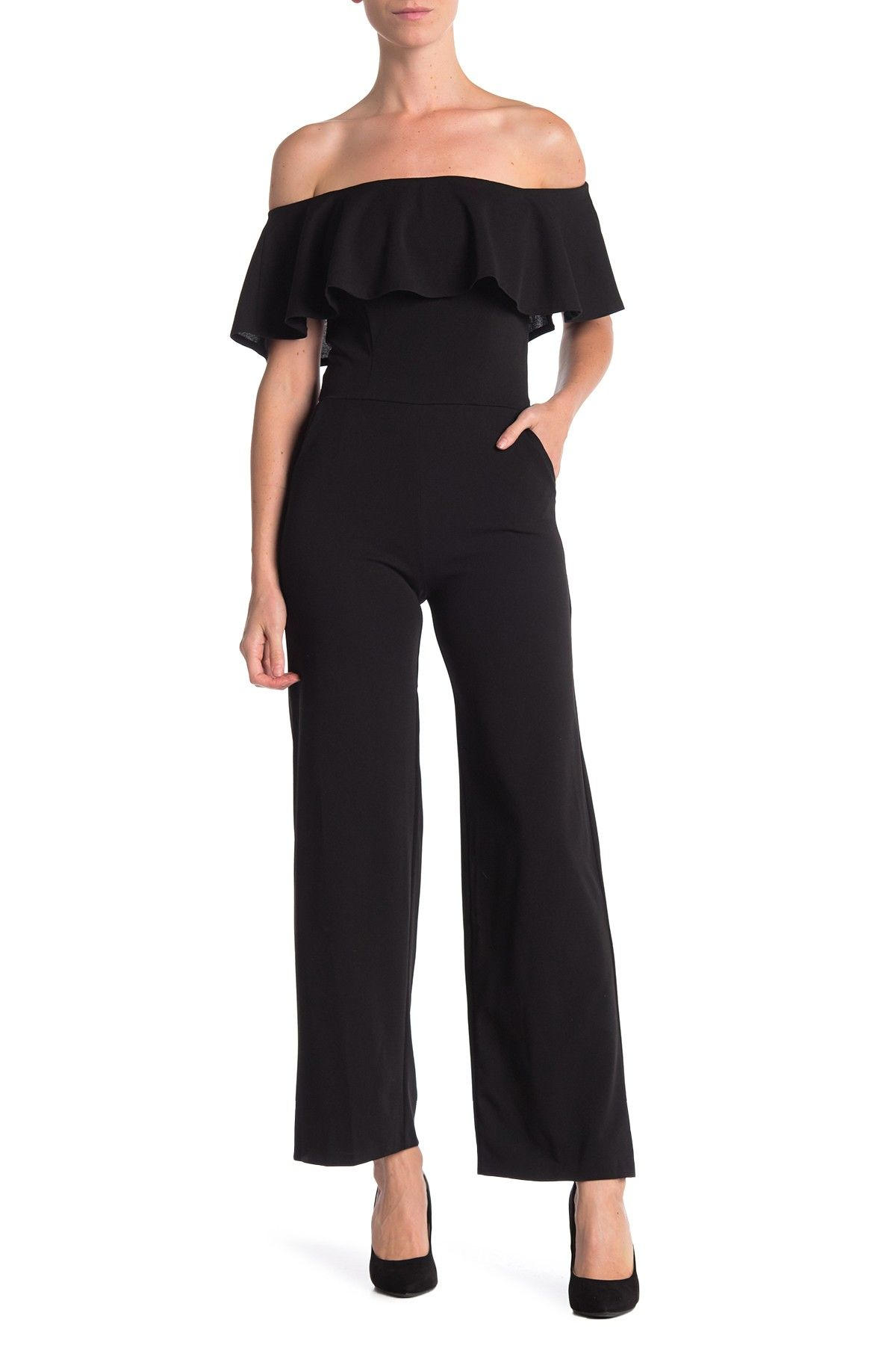 60470f5b7ac Ruffled Off-the-Shoulder Jumpsuit by Love...Ady on  nordstrom rack