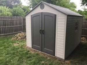 Garden Sheds Installed install a plastic storage shed | diy in a hour | pinterest