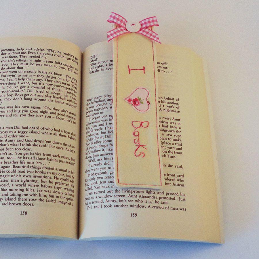 Personalised Pink 'I Love Books' Bookmark by CherishHandmade, £6.50