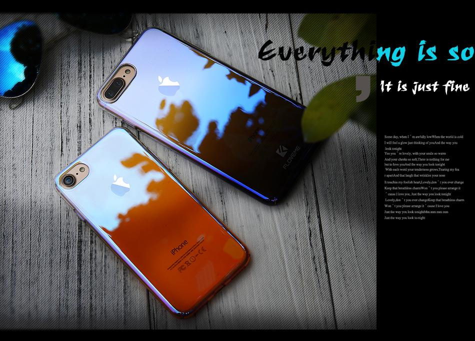 FLOVEME Case For iPhone X Luxury Case Gradient Hard Clear
