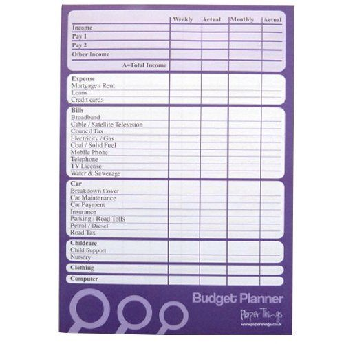 A5 Budget / Finance / Money Planner - 50 sheets per pad - Plan