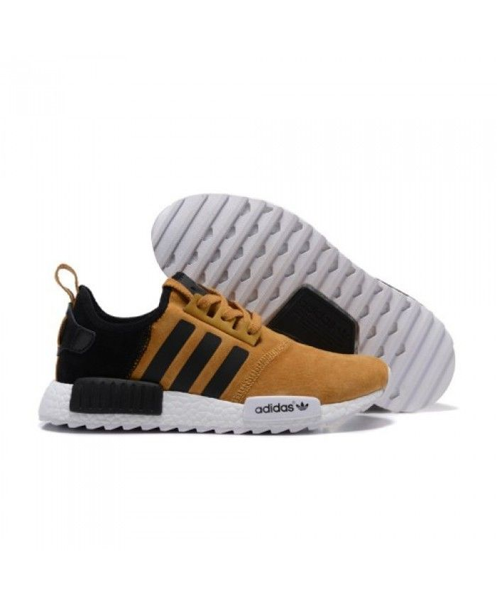 reputable site 3d0a7 ca2c7 Mens Adidas NMD Running Suede Khaki Black Shoes