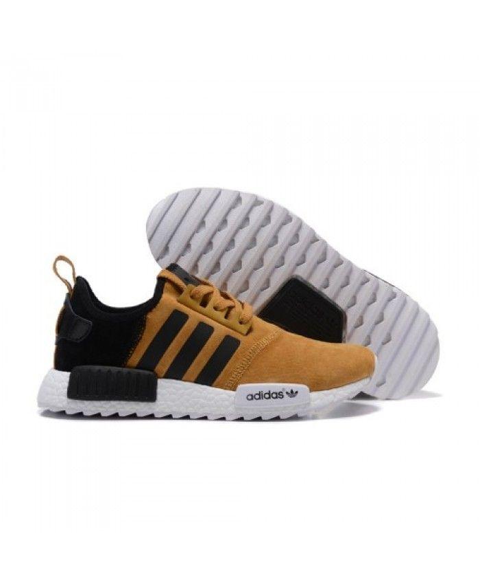 reputable site c49b9 c6961 Mens Adidas NMD Running Suede Khaki Black Shoes