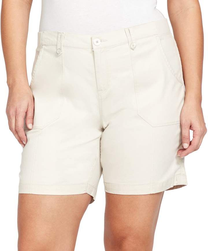 f73569980c Plus Size Gloria Vanderbilt Cathy Cargo Shorts | Products | Shorts ...