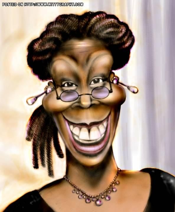 Whoopi Goldberg | Celebrity caricatures, Caricature artist ...